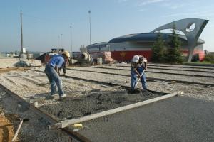 2005 Construction du court en terre battue