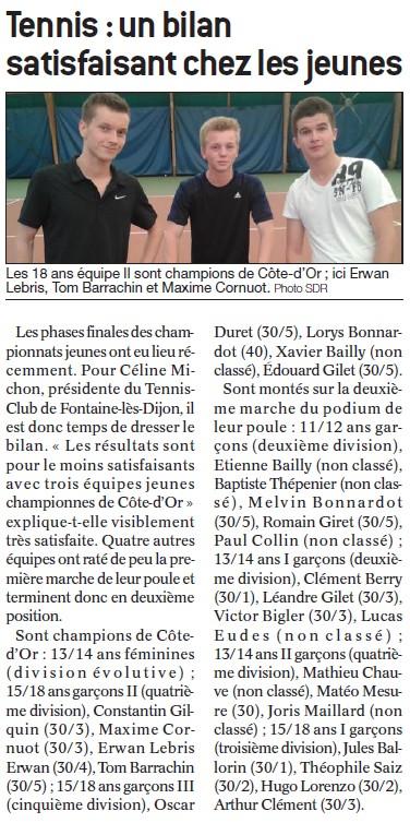 Garçons 15-18 ans équipe 2 - BP 24 juin 2015