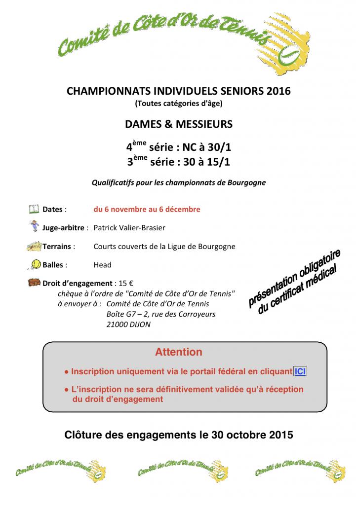 Championnat individuel affiche 2016