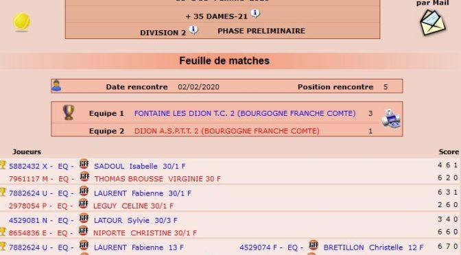 Championnat départemental +35 – J5