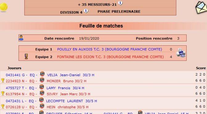 Championnat départementaL +35 – J3